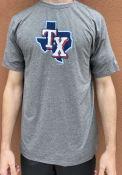 Texas Rangers New Era State T Shirt - Grey