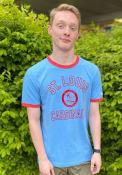 St Louis Cardinals New Era Throwback Ringer Fashion T Shirt - Light Blue