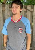 St Louis Cardinals New Era Throwback Henley Fashion T Shirt - Grey