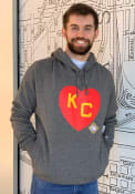 Kansas City Monarchs New Era KC Heart Fashion Hood - Black