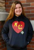 Kansas City Monarchs New Era KC Heart Hooded Sweatshirt - Black
