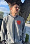 Kansas City Monarchs New Era KC Heart Full Zip Jacket - Grey