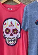 St Louis Cardinals New Era Sugar Skull T Shirt - Red