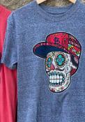 St Louis Cardinals New Era Sugar Skull Hat T Shirt - Grey