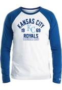 Kansas City Royals New Era RAGLAN Fashion T Shirt - Blue