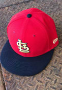 St Louis Cardinals New Era Goldship 59FIFTY Fitted Hat - Red