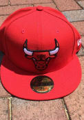 Chicago Bulls New Era 59FIFTY Fitted Hat - Red