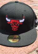Chicago Bulls New Era 59FIFTY Fitted Hat - Black