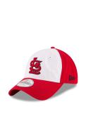 St Louis Cardinals New Era Core Shore White Front 9TWENTY Adjustable Hat - Navy Blue