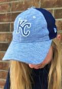 New Era Kansas City Royals Womens Blue Spaced Dye Mesh LS 9TWENTY Adjustable Hat