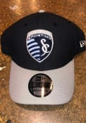 New Era Sporting Kansas City Navy Blue 2T Diamond Era 39THIRTY Flex Hat