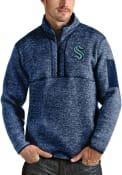 Seattle Kraken Antigua Fortune 1/4 Zip Fashion - Navy Blue