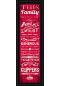 Los Angeles Clippers 8x24 Framed Posters