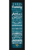 Jacksonville Jaguars 8x24 Framed Posters