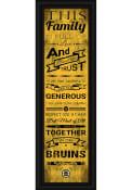 Boston Bruins 8x24 Framed Posters