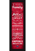 Washington Capitals 8x24 Framed Posters