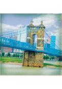 Cincinnati John A. Roebling Suspension Bridge 4x4 Coaster