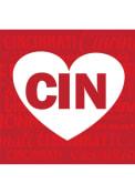 Cincinnati Heart 4x4 Coaster