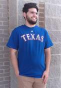 Majestic Texas Rangers Blue Wordmark Tee