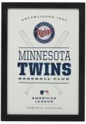 Minnesota Twins Framed Team Logo Wall Wall Art