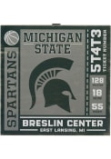 Michigan State Spartans Ticket Wood Wall Wall Art