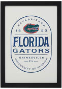 Florida Gators Framed Wood Wall Sign