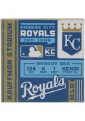Kansas City Royals Deep Wood Block Sign