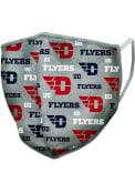Dayton Flyers Allover Print Fan Mask - Grey