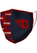 Dayton Flyers Split Allover Print Fan Mask - Navy Blue