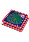 Texas Rangers 3D Stadium View Coaster