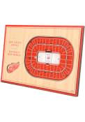 Detroit Red Wings 3D Desktop Stadium View Red Desk Accessory