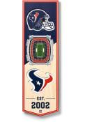 Houston Texans 6x19 inch 3D Stadium Banner