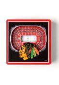 Chicago Blackhawks 3D Stadium View Magnet