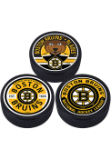 Boston Bruins 3 Pack Collectible Hockey Puck