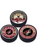 Arizona Coyotes 3 Pack Collectible Hockey Puck