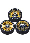 Buffalo Sabres 3 Pack Collectible Hockey Puck