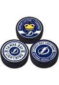 Tampa Bay Lightning 3 Pack Collectible Hockey Puck
