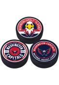 Washington Capitals 3 Pack Collectible Hockey Puck