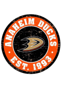 Anaheim Ducks Vintage Wall Sign