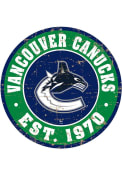 Vancouver Canucks Vintage Wall Sign