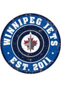 Winnipeg Jets Vintage Wall Sign