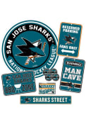 San Jose Sharks Ultimate Fan Set Sign
