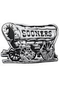 Oklahoma Sooners Metal Car Emblem - Silver