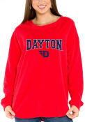 Dayton Flyers Womens Mickey Crew Sweatshirt - Red