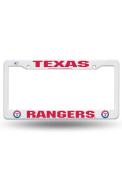 Texas Rangers Plastic White License Frame
