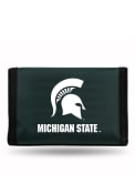 Michigan State Spartans Nylon Trifold Wallet - Black