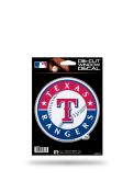 Texas Rangers Glitter Die Cut Auto Decal - Blue