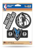 Dallas Mavericks 3pk Auto Decal - Blue