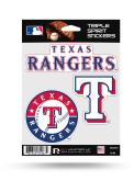 Texas Rangers 3PK Auto Decal - Blue