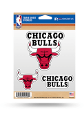 Chicago Bulls 3PK Auto Decal - Red